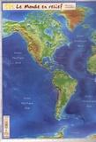 Mediaplus - Le Monde en relief - 42 cm x 62 cm.