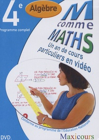 Cogan et  Tillier - M comme Maths Algèbre 4e - Un an de cours particuliers en vidéo, DVD.