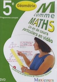 Cogan et  Tillier - M comme Maths Géométrie 5e - Un an de cours particuliers en vidéo, DVD.