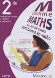 Cogan - M comme Maths Programme complet 2e - Un an de cours particuliers en vidéo, 4 DVD.