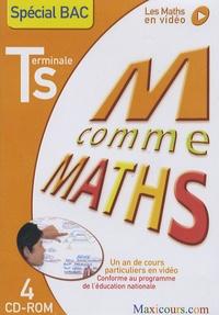 Olivier Malinaud et  Cogan - Ma comme Maths Spécial Bac Tle S - Un an de cours particuliers en vidéo, 4 CD-Rom.