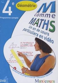 Cogan et  Tillier - Ma comme Maths Géométrie 4e - Un an de cours particuliers en vidéo, DVD.