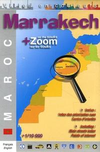 Editions Laure Kane - Marrakech + Zoom sur les souks - 1/10 000.