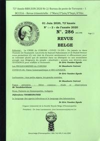 Eric Vanden Eynde - Revue belge d'homéopathie N° 286, juin 2020 : .