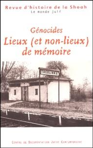 Georges Bensoussan - Revue d'histoire de la Shoah N° 181, Juillet-Déce : Génocides - Lieux (et non-lieux) de mémoire.