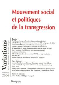 Ret Marut et John Holloway - Variations Printemps 2006 : Mouvement social et politiques de la transgression.