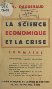 A. Raguenaud - La science économique et la crise.