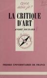 A Richard - La Critique d'art.