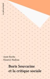 """A Roche - Boris Souvarine et """"La Critique sociale""""."""