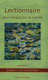 Abbaye de Solesmes - Lectionnaire pour chaque jour de l'année - Tome 3, Temps ordinnaire - Semaines VII-XXI.