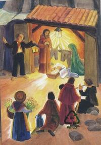 Abbaye ND de l'Annonciation - Cartes de voeux Noël provençal - Lot de 7.