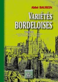 Liens de téléchargement de livres en ligne Variétés Bordeloises  - Tome 3 comprenant les livres V & VI