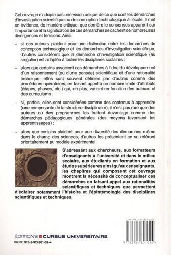 Les démarches d'investigation scientifique et de conception technologique. Regards croisés sur les curriculums et les pratiques en France et au Québec
