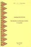 Abdellah Bounfour - Introduction à la littérature berbère - Tome 1, La poésie.