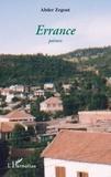 Abder Zegout - Errance - Poèmes.