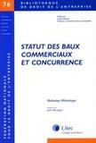 Abdoulaye Mbotaingar - Statut des baux commerciaux et concurrence.