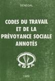 Abdoulaye Sakho et Ndiaw Diouf - Codes du travail et de la prévoyance sociale annotés : Sénégal.