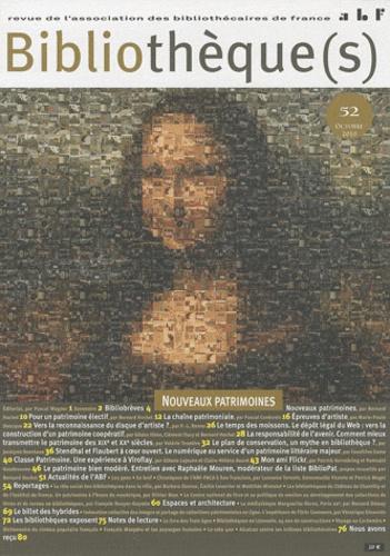 Philippe Levreaud - Bibliothèque(s) N° 52, octobre 2010 : Nouveaux patrimoines.
