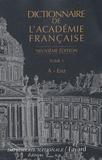 Académie française - Dictionnaire de l'Académie française - Tome 1 A-Enz.