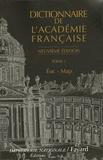 Académie française - Dictionnaire de l'Académie française - Tome 2, Eoc - Map.