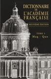 Académie française - Dictionnaire de l'Académie française - Tome 3 Maq-Quo.