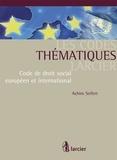 Achim Seifert - Code de droit social européen et international.