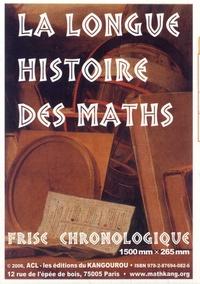 ACL-Editions du Kangourou - Frise chronologique La longue histoire des maths - 2e partie.