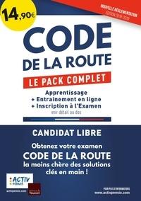 Activ Permis - Code de la route - Le pack complet : apprentissage + entraînement en ligne + inscription à l'examen.