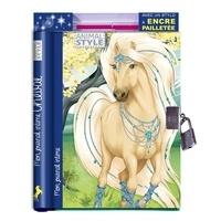 Ad'lynh et Christine Alcouffe - Mon journal intime cheval - Avec 1 stylo à encre pailletée.