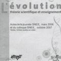 SNES - L'évolution : théorie scientifique et enseignement - CD-ROM.