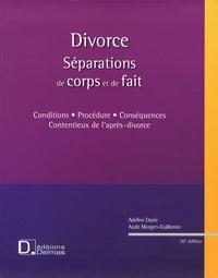 Adeline Daste et Aude Morgen-Guillemin - Divorce - Séparations de corps et de fait. 1 Cédérom