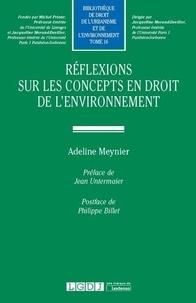 Adeline Meynier - Réflexions sur les concepts en droit de l'environnement.