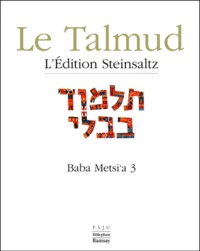 Adin Steinsaltz - Le Talmud - Tome 14, Baba Metsi'a 3.
