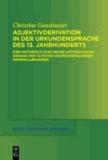 Adjektivderivation in der Urkundensprache des 13. Jahrhunderts - Eine historisch-synchrone Untersuchung anhand der ältesten deutschsprachigen Originalurkunden.