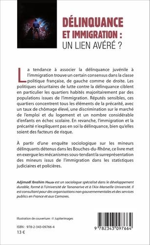 Délinquance et immigration : un lien avéré ?. Etude sur les mineurs délinquants détenus dans les Bouches-du-Rhône