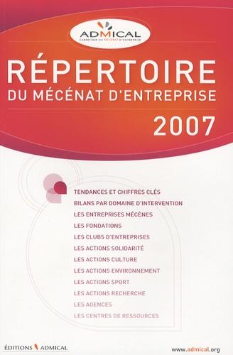 Admical - Répertoire du mécénat d'entreprise.