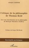 Adolphe Garnier - Critique de la philosophie de Thomas Reid.