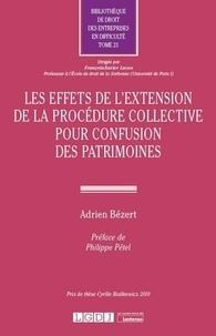 Adrien Bézert - Effets de l'extension de la procédure collective pour confusion des patrimoines.