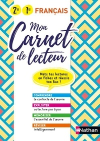 Adrien David et Marie Panter - Français 2de 1re Mon carnet de lecteur.