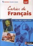 Adrien David et Audrey Fredon - Français CAP Nouveaux Regards croisés - Cahier.