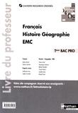 Adrien David et Eric Godeau - Français Histoire Géographie EMC Tle Bac Pro - Livre du professeur.