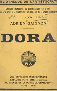 Adrien Gaignon et Gérard de Lacaze-Duthiers - Dora.