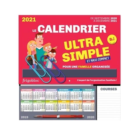Le calendrier ultra simple et maxi compact pour une famille organisée. Avec 1 criterium  Edition 2020-2021