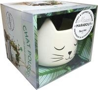Adrienne Wild - Chat pousse ! ...et chat décore - Petit guide de survie des plantes d'intérieur avec 1 pot en forme de tête de chat.