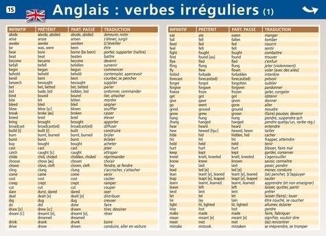 Anglais Verbes Irreguliers Aedis Papeterie Decitre