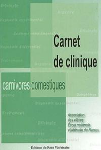 AEENVN - Carnet de clinique des carnivores domestiques.