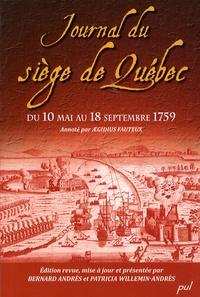 Aegidius Fauteux - Journal du siège de Québec du 10 Mai au 18 Septembre 1759.
