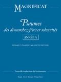AELF - Psaumes dimanches, fêtes et solennités Année A - Refrains et paslamodies, livret de partitions.