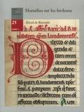 Aereld de Rievault - Homélies sur les fardeaux selon le prophète Isaïe.