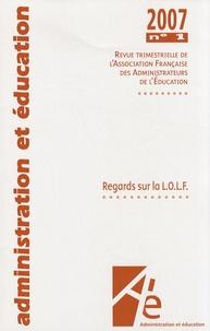 Jean-Richard Cytermann - Administration et Education N° 113, Février 2007 : Regards sur la LOLF.